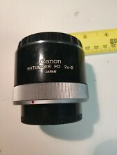 Canon Extender FD 2x-B Teleconverter for  FD Lens - JAPAN Used with Caps
