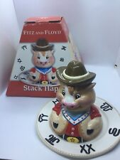 Fitz & Floyd (Ff) Stack Happy Sheriff Cow Children's Dish Set, New in Box, 2006