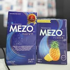 New Set Mezo Novy + Mezo Fiber Detox Natural Body Bright Supplement For Health