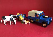 1970-80's Britains Farm Land Rover Trailer Cows Special Figure No9571 Excellent