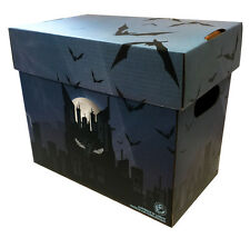 BATMAN Art Comic Book Storage Box - Dark Skyline  Holds 125-140 Comics