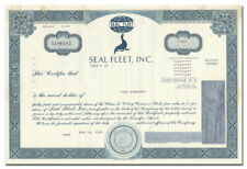 Seal Fleet, Inc. Stock Certificate (Galveston, Texas)