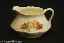 Vtg Owen China Ransom Creamer Pitcher Gold Medal St Louis Mo. Red & Yellow Roses