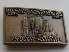 Rcc Belt Buckle Procon-Ashland Vtg Safety Achievement Mrs