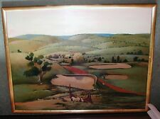 OIL ON CANVAS BY BLACK - FARM AT NULLA NULLA - AUSTRALIAN LANDSCAPE