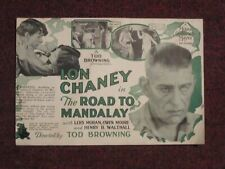 The Road To Mandalay  - Original 1926  Movie Herald - Lon Chaney