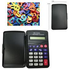 Mini Calcolatrice Tascabile Con Custodia Pile Ufficio Lavoro Conti Nero 571