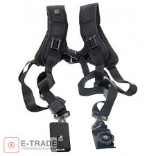 Quick Rapid Double Dual Shoulder Sling Strap Belt Holster for Two DSLR Camera