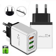 Carga rápida de 3 puertos 3.0 HUB USB Cargador De Pared Casa de teléfono nos adaptador de corriente enchufe de la UE