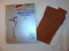 Nos Vintage Sheer Stretch Nylon Stockings Seamed 8.5-11 Fawn Beige