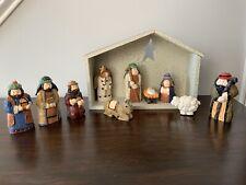 At Home America ~ Nativity Set ~ Holy Family ~ Wisemen ~ Manger ~ 11 Pc ~ Heavy!