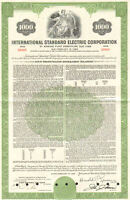 International Standard Electric Corporation > 1968 $1000 ITT bond certificate
