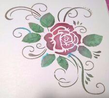 Plantilla Reutilizable Rose Craft Decoración del Hogar Pintura de Aerógrafo álbum de recortes Reino Unido