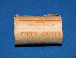1981 50 Cent Uncirculated Royal Australian Mint Roll  -  Free Registered Post