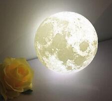 18CM 3D USB LED Magical Moon Night Light Moonlight Table Desk Lamp+Base for Gift