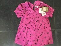 NWT Juicy Couture New & Genuine Pink Short Sleeved Cotton Top Girls Age 6