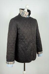 Ladies Burberry London Quilted Nova Check Black Jacket Size L