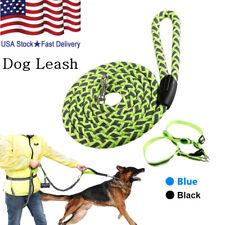 NEW Service Dog Rope Leash Lead Training Padded Handle Reflective Nylon fS