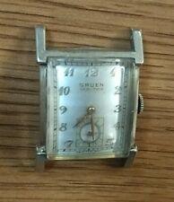 Beautiful GRUEN VERI-THIN Tank Style SWISS Made 17 Jewels Men's Wrist Watch!