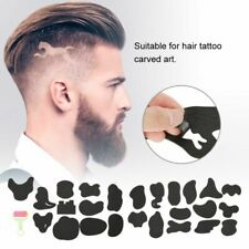 25pcs Hair Trimmer Tattoo Template Carved Coloring Pattern Stencil Tattoo Barber