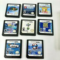 Lot of 8 Nintendo DS Game Carts (Mario 64 Princess Peach Sims Lego Spongebob)