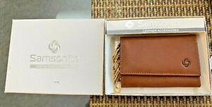 Samsonite Brown Leather Key chain