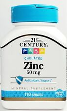 21st Century Zinc 50 mg 110 ct Bottle - Expiration Date 03-2023