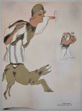 Listed Mexican Artist JASE LUIS CUEVAS, Signed Original Lithograph 1969