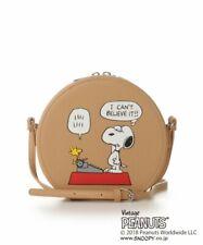 Samantha Thavasa PEANUTS SNOOPY Woodstock Shoulder Bag Purse Pouch Beige Japan