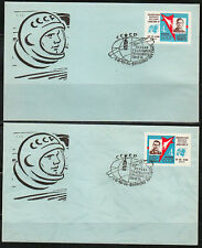 Soviet Russia 1963 two Space covers 1th anniver.Vostok-3 & Vostok-4 flight