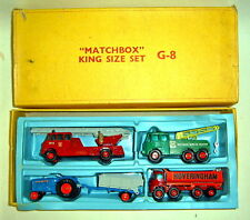Matchbox Kingsize G-8 Giftset USA 1966 rare gelbe Box
