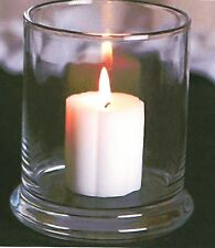 """1-Pillar Candle Holder-Clear Glass For 2"""" x 3"""" Pillar Candle or Votive Candles"""
