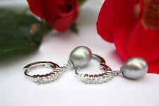 YR1G Süßwasser Perlen Schmuck Ohrringe Creolen Ohrhänger Ohrstecker 925 Silber