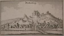 1644 Riedenburg im Altmühltal Riettenburg Kupferstich-Gesamtansicht Merian