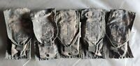 5 Used US Military Molle II ACU Two Mag Double Mag Pouches, 8465-01-525-0606