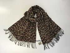 J.Crew Italian Wool-Blend Scarf In Leopard NWT Made In Italy