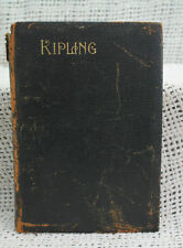 THE POEMS OF RUDYARD KIPLING rare old antique black leather edition A.L.Burt