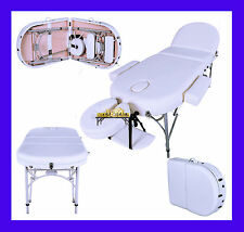 IVORY WHITE ALUMINIUM LIGHTWEIGHT PORTABLE MASSAGE TABLE BED SPA TATTOO 3""
