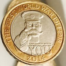 2014 £2 COIN WORLD WAR I CENTENARY 100YRS RARE TWO POUNDS Excellent Condition