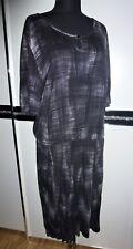 👗 Vögele Damen Sommer kurzarm Kleid schwarz grau Gr. 50 Viskose NEU👗