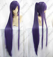 Vocaloid Miku Gakupo Purple Cos Wig Clip On Ponytail Cosplay Party Hair Wig