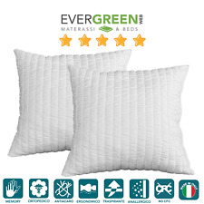 Coppia Cuscini Guanciali Ortocervicale Memory Foam 100%25 Made in Italy Evergreen