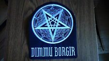 DIMMU BORGIR + LOGO,SEW ON WHITE EMBROIDERED LARGE BACK PATCH