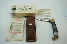 VINTAGE CASE XX KNIFE MAKO SHARK FOLDING POCKET KNIFE SHEATH BOX P158 L SSP
