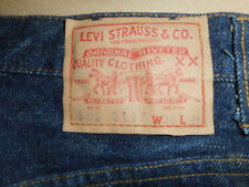 Mens 502 XX 0117 BIG E Vintage 1966-1968 Original Levi Jeans Raw Denim Selvedge