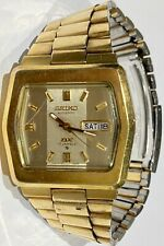 Vintage Seiko DX Automatic Gold Tone 6106-5529 Japan A in working condition