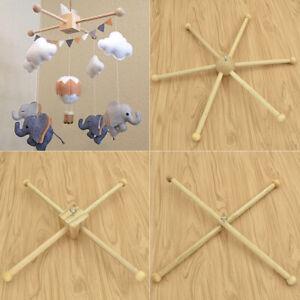 Baby Hanging Wind Chime Bracket Crib Hanger Wooden Mobile Frame Nursery DIY