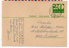 Suiza Entero Postal circulado año 1970 (DI-730)
