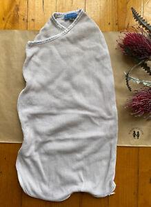 Bubbaroo baby size newborn 0.5 tog beige waffle swaddle sleeping bag, VGUC