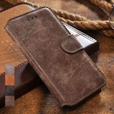 Samsung Galaxy S9 Plus Hülle Handy Tasche Wildleder Design Case Schwarz, Braun